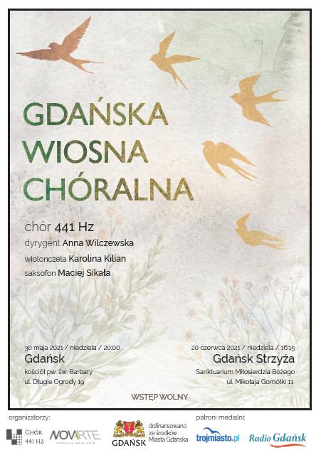 Plakat informacyjny dotyczący wydarzenia GDAŃSKA WIOSNA CHÓRALNA