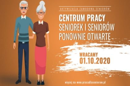 Centrum Pracy Seniorek i Seniorów wznawia bezpośrednią obsługę klientów